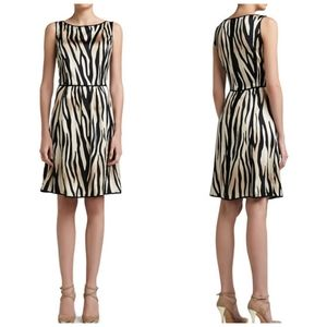 St. John Tigre Print Silk Charmeuse Dress8